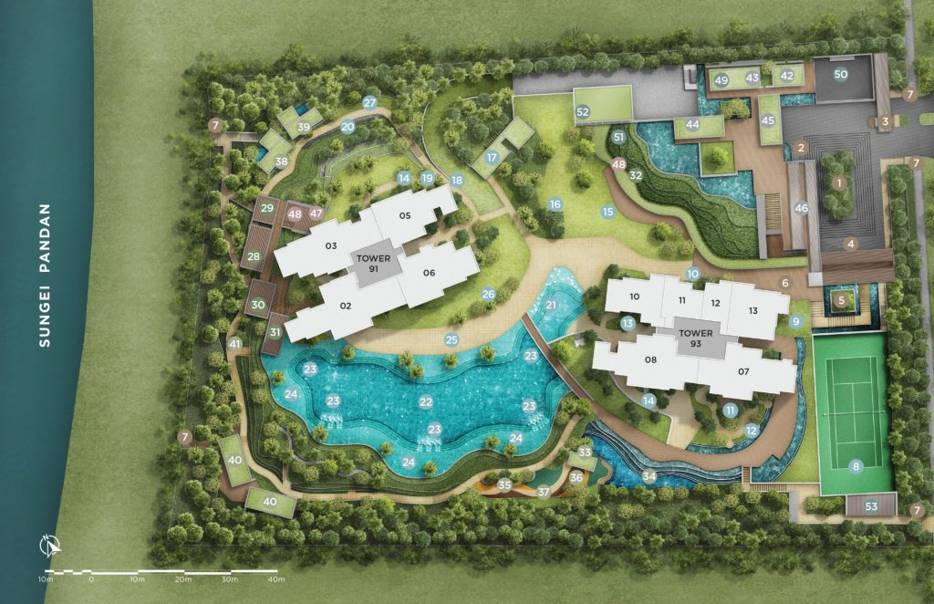 twin vew site plan overview