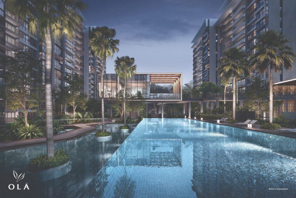 OLA Executive Condominium pool