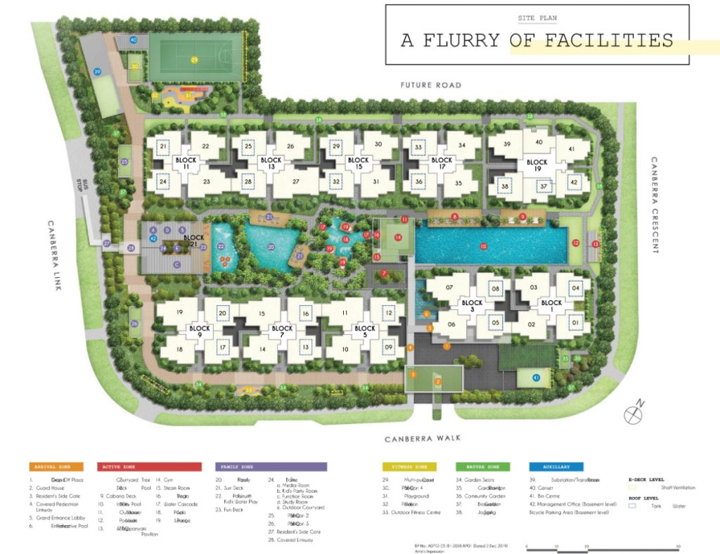 Parc Canberra Executive Condominium Site Plan