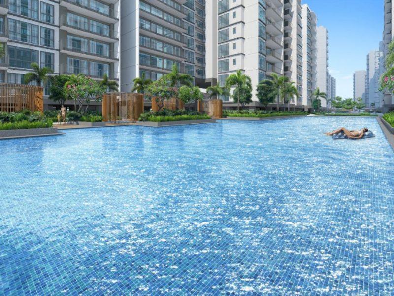 Treasure at Tampines Site Plan Pool View